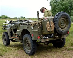 The Seagull has landed -  WWII Reenacting (David Shreeve) Tags: uk england usa jeep ww2 cleethorpes humber humberside nelincs wwiireenacting