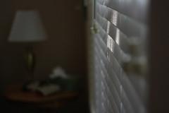 (jen526) Tags: light home window dark bedroom blinds pt bedsidetable sooc sliceofmylife