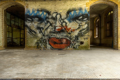 "Roll up Roll up , The Freak Show Is Open (steiner2009 ""AKA Dr Dust "") Tags: old urban berlin art broken floors bathroom graffiti doors floor circus decay clown crew tiles sanatorium decayed decaying c4 urbex deralict deralicts"