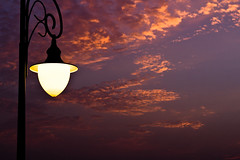 well I had a dream (ayazay) Tags: orange clouds solitude skies streetlamp nostalgia dreams orangesky aa memoirs aleximurdoch summerevenings canonef50mmf18ii canon60d