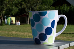 Morning coffee (clogette) Tags: camping cup coffee breakfast countryside spots campsite cevennes meyrueis lacascade