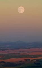 Moon over Palouse (gordeau) Tags: moon washington gordon fields ashby palouse steptoebutte flickrchallengegroup flickrchallengewinner gordeau