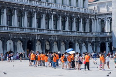 The Orange Group (PeterYoung1.) Tags: venice summer people italy orange holiday bright tourists stmarkssquare