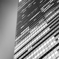 Citicorp Building (Adam Garelick) Tags: city nyc newyorkcity summer blackandwhite 120 6x6 film monochrome architecture night mediumformat manhattan midtown hasselblad rodinal 2012 lexingtonavenue citicorpbuilding fujineopanacros