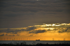 SUNRISE OVER BOTANY BAY   (111) (DESPITE STRAIGHT LINES) Tags: uk morning sea england sky cliff cloud sunlight seaweed beach wet water silhouette rock clouds sunrise dawn bay coast boat chalk kent seaside am sand nikon rocks waves ship power cloudy sandy tide shoreline silhouettes wave vessel cliffs coastal shore coastline rays sunrays botanybay tidal windfarm goldenhour turbines rayoflight firstlight broadstairs thegoldenhour offshorewindfarm botanybaykent d7000 nikon18105mmvr nikongp1 botanybaybroadstairs nikond7000 sunriseoverbotanybay botanybayuk