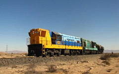 Ferronor, Empalme norte. (DeutzHumslet) Tags: chile train gm iron desert cargo minerals locomotive freight emd vallenar atacamadesert gr12 ferronor