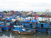 Blue boats in Nha trang, Vietnam (mbphillips) Tags: fareast southeastasia vietnam 越南 ベトナム 베트남 asia アジア 아시아 亚洲 亞洲 mbphillips canonixus400