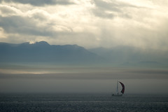 (westcoastcaptures) Tags: ocean mountains fog sailboat point bc victoria ogden a99 70400g sonya99