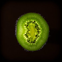 Backlit Kiwi Fruit (Ian Johnston LRPS) Tags: hairy green fruit flesh nikon seeds pips backlit kiwi core 2012 d800