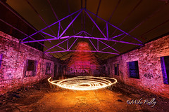 Vortex (Mike Ridley.) Tags: uk longexposure england lightpainting night photography rust fireworks decay ruin demolition disused nightscene northeast derelict canon1740mmf4lusm saucer lightpolution lightpainted northeastengland physiogram canon5dmkll fenwickpit fellwalker1