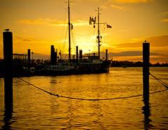 Der Tag neigt sich dem Ende (spityHH) Tags: sunset hafen sonne sonnenaufgang schiffe feuerschiff neumhlen museumshafen elbe3 hamburgelbe