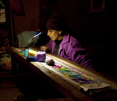 "Using the Firefly to illuminate her artwork in the evening • <a style=""font-size:0.8em;"" href=""http://www.flickr.com/photos/69507798@N03/13539859535/"" target=""_blank"">View on Flickr</a>"