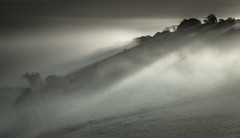 Misty Downs (JamboEastbourne) Tags: park england mist sunrise downs sussex south east national rolling subdued