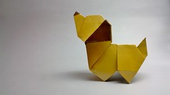 Puppy Dog (C5Origami) Tags: square origami paperfolding origamidog edwincorrie