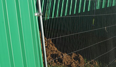 cages 1 (dick_pountain) Tags: london fence wire earth soil parliamenthill earthmoving cages excaavation pondsproject