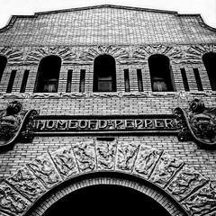 Home of Dr. Pepper (johnnyp_80435) Tags: blackandwhite bw building museum blackwhite texas waco drpepper soda
