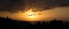 Sunset rooftop Las Palmas de Gran Canarias (Mara Castillejo) Tags: sunset clouds sunrise coucher canarias islas
