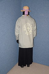 Niqab and Anorak (Buses,Trains and Fetish) Tags: girl warm coat hijab sweat fleece niqab anorak slave burka chador