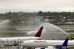 New guy in town (NE Trains & Aviation) Tags: berlin water boston airport air tail delta airbus logan a330 767 ber