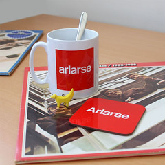 arlarse mug and arlarse coaster (rethinkthingsltd) Tags: birthday christmas boss baby home kitchen up liverpool ma design tshirt parry livingroom made card sound mug greetings decor coaster cushion greeting madeup yerma yer scouser ilsa babygrow eeee laffin chocka jarg typograhic arlarse rethinkthings geggin gegginin