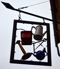 Tea, Coffee.... [Szentendre - 6 December 2015] (Doc. Ing.) Tags: sign metal iron hungary hu szentendre 2015 centralhungary irondetails detalhesemferro