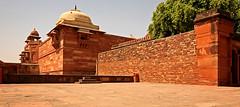 Fatehpur Sikri Palace 102 (David OMalley) Tags: india muslim islam agra palace mosque pilgrimage akbar masjid allah islamic pradesh fatehpur sikri muhammed uttar jama darwaza buland sikari vijaypur