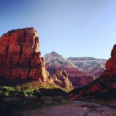 wrapped in the long shadows of... (szellner) Tags: morning camping nature landscape utah desert hiking exploring scenic roadtrip canyon wanderlust backpacking valley zion wilderness adventures zionnationalpark nationalparks thegreatoutdoors naturelovers deserthiking uploaded:by=flickstagram instagram:photo=8392538650396343941442850998