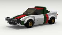 Lancia Stratos Rally (Tom.Netherton1) Tags: road city italy classic cars sports car sport digital race speed vintage italian europe european lego pov designer rally racing legos download coupe dropbox speedster lancia racer v6 povray stratos rallying bertone ldd lxf