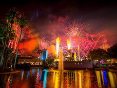 Hollywood Studios - Flame On! (Jeff Krause Photography) Tags: park lake spectacular star us unitedstates florida fireworks echo disney flame hollywood cannon theme wars wdw studios dhs kissimmee galactic