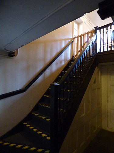 Upton House and Gardens - wine cellars - stairs