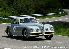 DSC_6561 - Alfa 6C Touring - 1947 - Valsenise Marino - Club Italia (pietroz) Tags: silver photo foto photos flag historic fotos pietro storico zoccola 21 storiche vernasca pietroz