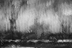 Under the willow tree (tvc415) Tags: people blackandwhite painterly leaves river multipleexposure infrared impressionist folliage