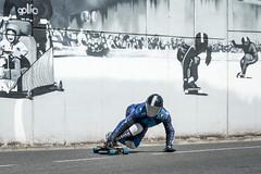 Blue Skater - through the wall (Juan Ig. Llana) Tags: muro mono grafiti downhill skate deporte skater zb velocidad bizkaia casco pintura cuesta cuero erandio descenso monopatn xtremegames altzaga