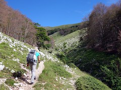 In a gully above Prato di Campoli (markhorrell) Tags: walking lazio apennines montiernici