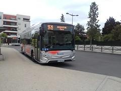 Lacroix rseau Valoise Heuliez GX 337 DZ-962-VX (95) n1020 (couvrat.sylvain) Tags: valoise cars lacroix bus heuliez heuliezbus gx337 gx 337 hybride beauchamp montignybeauchamp gare autobus