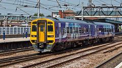 158908 (JOHN BRACE) Tags: york trains class 1992 northern seen derby built 158 livery dmu brel 158908