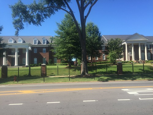 Fraternity houses across from Bryant-Denny Stadium