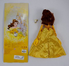 2016 Belle Classic 12'' Doll - US Disney Store Purchase - Deboxed - Lying Down - Full Rear View (drj1828) Tags: disneystore doll 12inch classicprincessdollcollection 2016 purchase belle beautyandthebeast chip deboxed