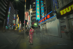 As time goes by (Akkarapat) Tags: lighting street abstract motion color art japan photoshop japanese town lowlight nikon emotion memories dramatic sigma dreaming drama sigma1020 d5200 dreamatic d7200