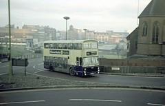 WMPTE 4778, St Chads Queensway, Birmingham, 1976 (Lady Wulfrun) Tags: wmpte 4778 volvo ailsa jov778p stchads queensway birmingham 11th november 1976 alexander 42 sutton garage erdington snowhill