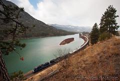 Montana Rail Link Gas Local (Travis Dewitz) Tags: railroad train mt rockymountains clarkforkriver thompsonfalls lolonationalforest emdsd45 mrl346 montanaraillinkgaslocal