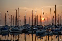Sunset marina Herkingen (BraCom (Bram)) Tags: sunset sun reflection netherlands marina canon boats zonsondergang yacht nederland boten masts zon zuidholland goereeoverflakkee goldenlight mkiii grevelingen spiegeling jachthaven masten coth eos5d zeiljacht herkingen coth5 bracom ruby25