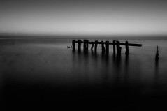 Untitled (Ivan Sorensen | www.ivansorensenphotography.com) Tags: morning light sky blackandwhite lake ontario canada reflection water monochrome sunrise landscape dawn nikon natural bright horizon hamilton winona hfg riffle d90 niksoftware fiftypoint capturenx2 nikcep