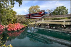 Monorail Monday (Edition 25) (Coasterluver) Tags: reflection water disneyland disney monorail hdr fantasyland monorailred markvii monorailmonday coasterluver motorboatdock