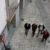 4 pass by (sonyacita) Tags: men square four spain walkers tudela frommybalcony