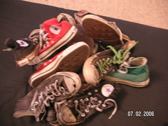 old converse collection (chuck_lover) Tags: old fun shoes rubber dirty sneakers converse taylor cons chuck filthy schuhe allstars trashed fertig hightop gebraucht getragen