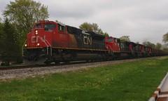 At First Glance (Wide Cab) Tags: cn train freight canadiannational manifest oshkoshwi a447 neenahsub