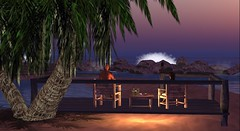 This Corona Moment from Back (Aisling Macmoragh) Tags: deck secondlife aisling homestuff ashestoashes piddlersperch