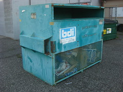 Basin Disposal (Thrash 'N' Trash Prodcutions) Tags: trash dumpster washington garbage disposal cage basin cardboard only waste refuse recycle recycling sanitation pasco tricities