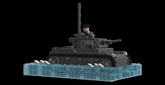 Tauchpanzer III entering the Bug River (Florida Shoooter) Tags: germany lego ww2 ldd panzeriii operationbarbarossa divingtank tauchpanzeriii operationseslion